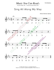"Click to Enlarge: ""Sing All Along the Way"" Pitch Number Format"