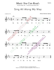 "Click to Enlarge: ""Sing All Along the Way"" Rhythm Format"