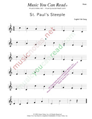 """St. Paul's Steeple"" Music Format"