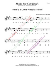 "Click to enlarge: ""There's a Little Wheel a Turnin',"" Beats Format"