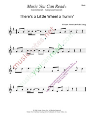 """There's a Little Wheel a Turnin',"" Music Format"