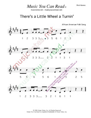 "Click to Enlarge: ""There's a Little Wheel a Turnin',"" Pitch Number Format"
