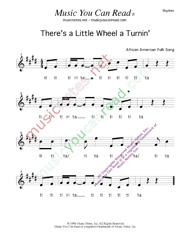 "Click to Enlarge: ""There's a Little Wheel a Turnin',"" Rhythm Format"