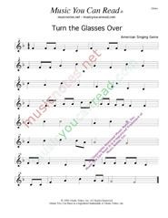 """Turn the Glasses Over"" Music Format"