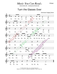 "Click to Enlarge: ""Turn the Glasses Over"" Solfeggio Format"