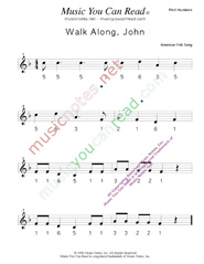 "Click to Enlarge: ""Walk Along John"" Pitch Number Format"