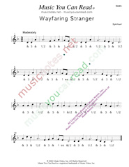 "Click to enlarge: ""Wayfaring Stranger"" Beats Format"