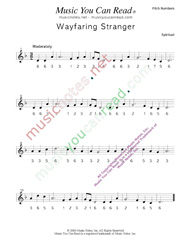 "Click to Enlarge: ""Wayfaring Stranger"" Pitch Number Format"