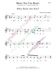"Click to enlarge: ""Who Buil the Ark?,"" Beats Format"