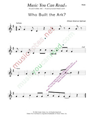 """Who Buil the Ark?,"" Music Format"