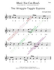 "Click to enlarge: ""Wraggle-Taggle Gypsies,"" Beats Format"
