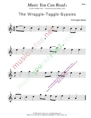 """Wraggle-Taggle Gypsies,"" Music Format"