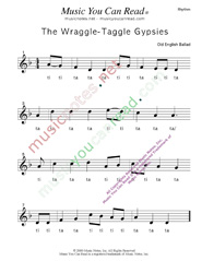 "Click to Enlarge: ""Wraggle-Taggle Gypsies,"" Rhythm Format"