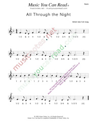 "Click to enlarge: ""All Through the Night,"" Beats Format"