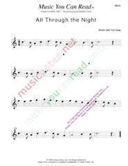 """All Through the Night,"" Music Format"
