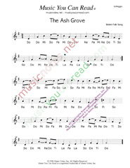 "Click to Enlarge: ""The Ash Grove,"" Solfeggio Format"
