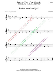 """Away in a Manger,"" Music Format"