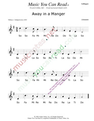 "Click to Enlarge: ""Away in a Manger,"" Solfeggio Format"