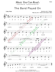 "Click to enlarge: ""The Band Played On,"" Beats Format"