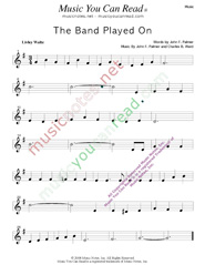 """The Band Played On,"" Music Format"