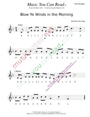 "Click to Enlarge: ""Blow Ye Winds in the Morning,"" Pitch Number Format"