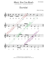 "Click to Enlarge: ""Dundai,"" Pitch Number Format"