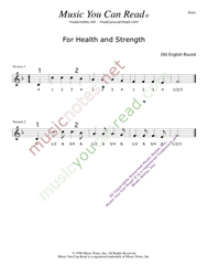 "Click to enlarge: ""For Health and Strength,"" Beats Format"