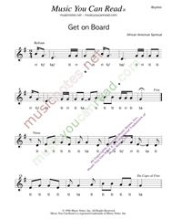 Click image to  enlarge Rhythm format Get On Board
