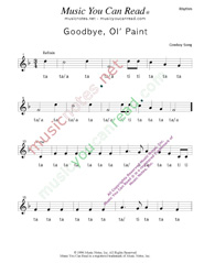 "Click to Enlarge: ""Goodbye Old Paint,"" Rhythm Format"