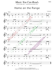 "Click to enlarge: ""Home on the Range,"" Beats Format"