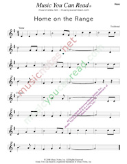 """Home on the Range,"" Music Format"