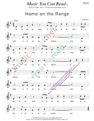 "Click to Enlarge: ""Home on the Range,"" Rhythm Format"