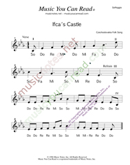 "Click to Enlarge: ""Ifca's Castle,"" Solfeggio Format"