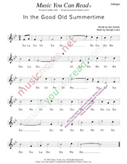"Click to Enlarge: ""In the Good Old Summertime,"" Solfeggio Format"