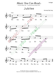 "Click to Enlarge: ""Jubilee,"" Solfeggio Format"