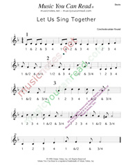 "Click to enlarge: ""Let Us Sing Together,"" Beats Format"