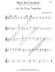 """Let Us Sing Together,"" Music Format"
