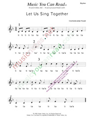 "Click to Enlarge: ""Let Us Sing Together,"" Rhythm Format"