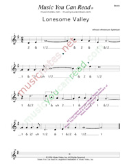 "Click to enlarge: ""Lonesome Valley,"" Beats Format"