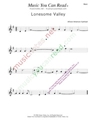 """Lonesome Valley,"" Music Format"
