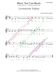 "Click to Enlarge: ""Lonesome Valley,"" Pitch Number Format"
