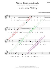 "Click to Enlarge: ""Lonesome Valley,"" Rhythm Format"
