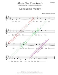 "Click to Enlarge: ""Lonesome Valley,"" Solfeggio Format"