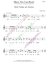 "Click to Enlarge: ""Old Folks at Home,"" Rhythm Format"