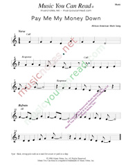 """Pay Me My Money Down,"" Music Format"