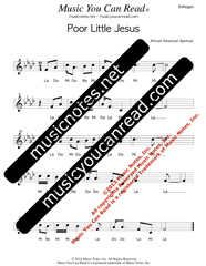 "Click to Enlarge: ""Poor Little Jesus"" Solfeggio Format"