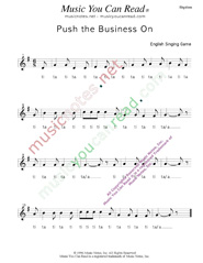 "Click to Enlarge: ""Push the Business On,"" Rhythm Format"