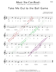 "Click to enlarge: ""Take Me Out to the Ball Game,"" Beats Format"