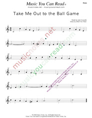 """Take Me Out to the Ball Game,"" Music Format"
