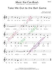 "Click to Enlarge: ""Take Me Out to the Ball Game,"" Rhythm Format"